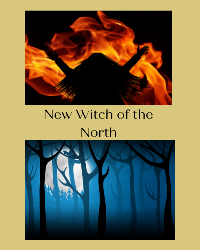 Early cover mock-up showing girl in front of fire and a wood in the moonlight